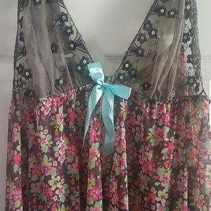 Other - Floral Lingerie Teddy Slip Neglige 2x/3x Plus Size